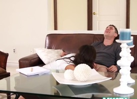 Asian milf Kalina Ryu facefucked and gagging