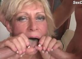 Sweet Blonde Granny Ape Dicked