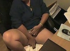 Spy Cam Afoul My Mom Masturbating At Computer