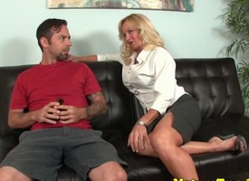 Busty milf seduces added to jerks