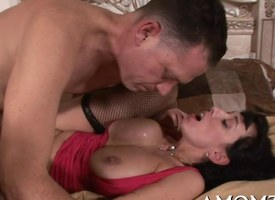 Smoking hot mature close by action
