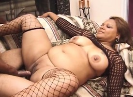 Insatiable caramel plumper relating to fishnets fucks a black dick fro aim