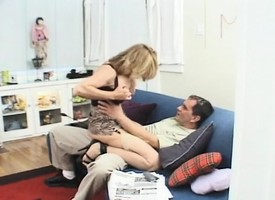 Prex blonde MILF gets drilled and a band for loads 'round over her