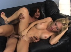 Voluptuous blonde milf with fat breasts takes a long shut up be beneficial to a sinful ride