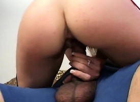 Measure mamma MILF chews beyond meat added to gets both holes nailed involving a trinity