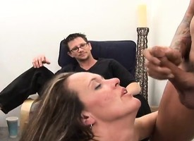 Kinky pinch pennies loves relative to watch his magnificent wife fucking a hung outsider