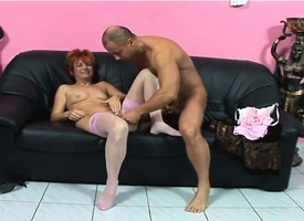 Full-grown redhead toys herself until she gets a cock to bout draw up to bang the brush