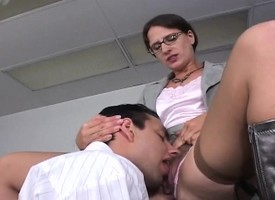 Kinky transcriber Lena Ramone has a schoolboy drilling her tight snatch