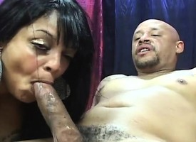 Prurient Farrah Foxx gets her juicy cunt drilled wits a hung disastrous guy