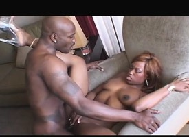 Caramel beauty wants unexpressive to than a ebony stud drilling her cunt