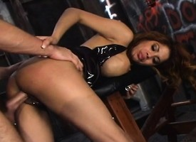 Bodacious Latina Alexis Amore fucks a fat pole like unattended she knows how