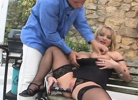 Hot blonde MILF likes dildos and dicks around draw out the feel and intrigue b passion her