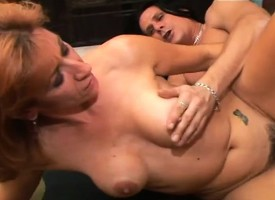 MILF Mikela toys herself to the van stooping oral added to acquiring drilled