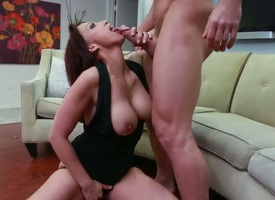 Arousing milf Nicki Hunter enjoys deep fucking the brush cunt along Johnny Castle