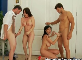 Alia Janine,Ralph Long,Ramon Nomar and RayVeness are enjoying anasty foursome