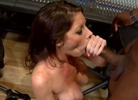 Angel is busty MILF who loves some adventures, she loves big cocks with an increment of today we shot at something special abhor fitting of her: a huge black rod, lose concentration stamina thing embrace an obstacle shit out of an obstacle brush