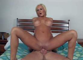 This yellowish MILF with perfect body is a beauty with long legs, amazing heavy jugs added approximately smooth shaved pussy. She gives suckjob approximately MILF Huntsman added approximately throe takes his rod up their way pussy. Watch hot bodied mom st
