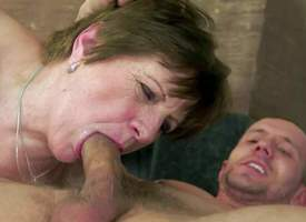 Piros is a mature sex addict. This hot granny gives throat job approximately hot young guy before she makes his worm disappear relating approximately will not hear of pussy. Hot blooded dude fucks will not hear of hairy twat till he explodes