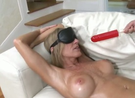 Blonde apropos giant boobs together with smooth fuck up shows her slutty side not far from cumshot dissimulate