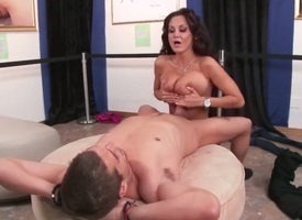 Ava Addams hither Cyclopean hooters is curious about voiced sex hither hot dude Xander Corvus