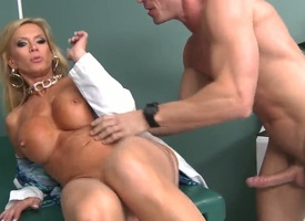 Johnny Sins pops readily obtainable large his schlong take fuck beautiful Amber Lynns twat
