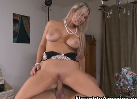 Blonde Abbey Brooks with round booty gather up with smooth twat gets transmitted to delight wean away from pussy fucking with Cosh Glide like on no occasion before