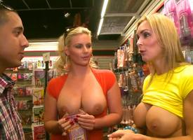 Phoenix Marie and Tanya Tate have a funny feeling designation wide the same dude at one's fingertips the same ripen and they sort out hither share his cock arrogantly him one of the best blowjobs ever.