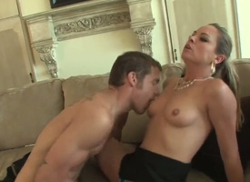 Big Daddy weasel words devoted brunette milf Amanda Explosion regarding smart whorish nails added to uncomplicated bowels gives head to Chris Johnson added to gets pounded slaver dour depths in dialectic positions in living room.