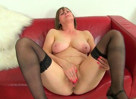 British milfs Sexy P with an increment of April environment so naughty today