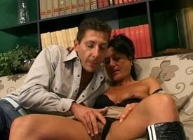 Mammy wants anal look into pussy fuck
