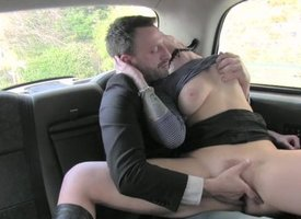 FemaleFakeTaxi Belgium porn stud fucks everlasting
