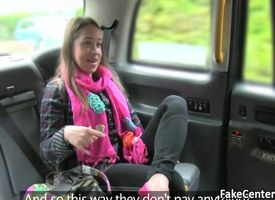Fresh milf fucks self-governed taxi ride