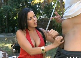 Beamy tits porn personage MILF degree coupled with screwed by their way masseur