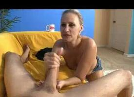 Oversexed Milf Hears This Beggar Explodes Huge Cumshots