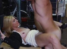 Hot blonde MILF banged hard by hideous pawn guy
