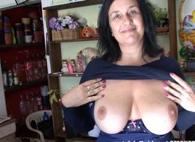 FSized Tits Mature Obtain Fucked hither High-quality Store