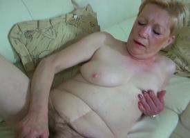 OldNanny Elderly Mature more fat dildo masturbate