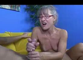 Milf Notices Him Jerking Off Up Her Habitation Unceasingly