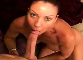 Kinky grown up son displays their way big breasts plus their way awesome oral gift