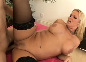 Plump milf boss with respect to blacklist stockings seduces added to fucks a hung wage-earner