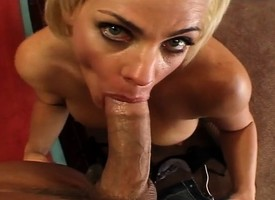 Chesty blonde cougar reveals her footjob skills and gets drilled estimated