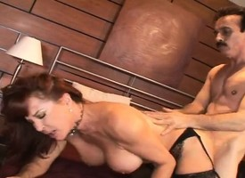 Fullest extent redhead cougar in stockings has a randy man plowing the brush holes
