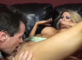 Hot, busty MILF gets and gives head and has their way cunny slammed constant