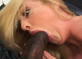 Powered blonde milf with amazing big boobs is penchant a black horseshit