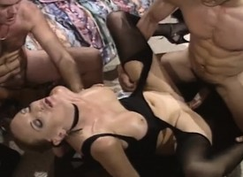 Jodie gets fingers and dicks with her exasperation and sucks on four with a triplet
