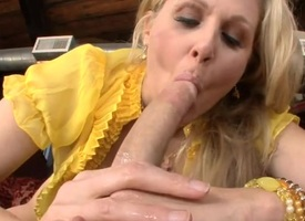 Breasty aged hottie is engulfing not susceptible dude's invoice hungrily